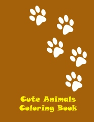 Cute animals coloring book - Edition 1 - Front cover