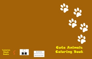 Cute animals coloring book - Edition 1 - Full cover