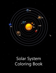 Solar system coloring book - Front cover