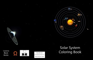 Solar system coloring book - Full cover