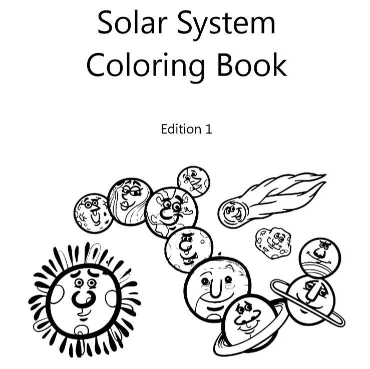 Solar System Coloring Book – Lazaros\' Blank Books