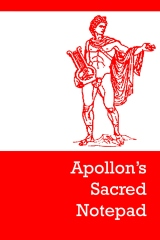 Apollon's sacred notepad - Edition 1 - Front cover