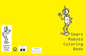 Smart robots coloring book - full cover