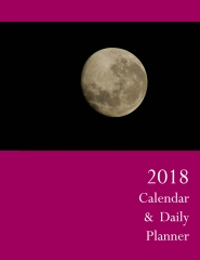 2018 calendar & daily planner - front cover
