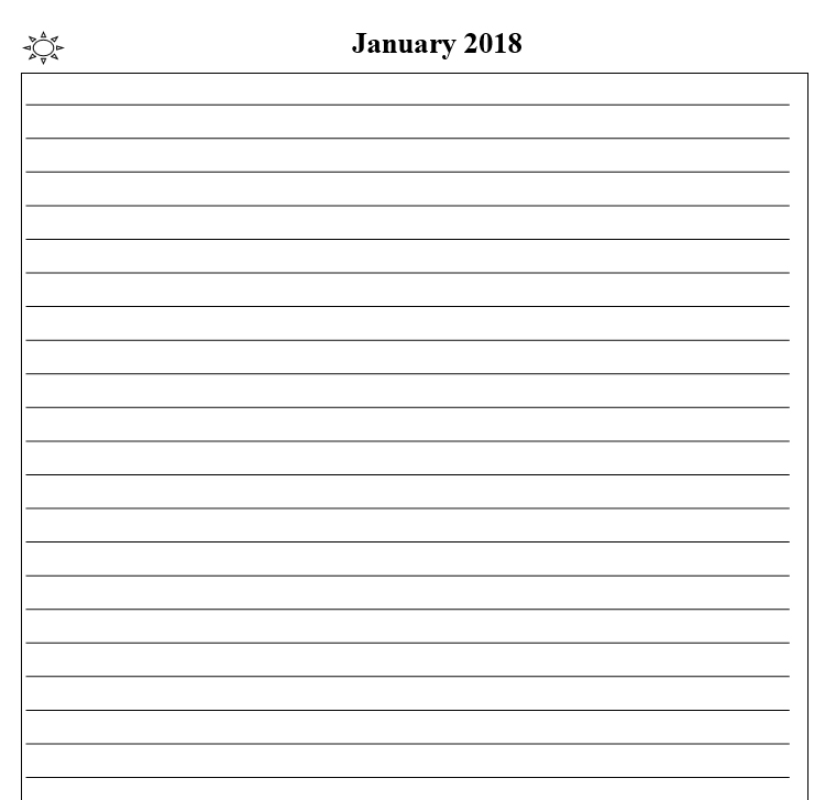 2018 calendar & daily planner - Book interior 4
