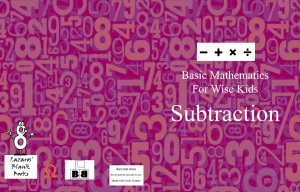 Basic Mathematics For Wise Kids: Subtraction - Full cover