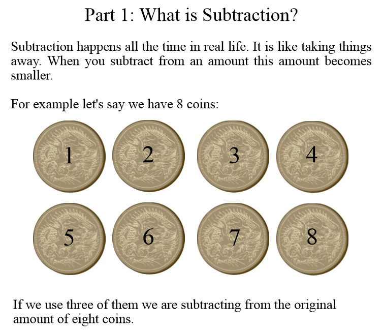 Basic Mathematics For Wise Kids: Subtraction - Book interior 3
