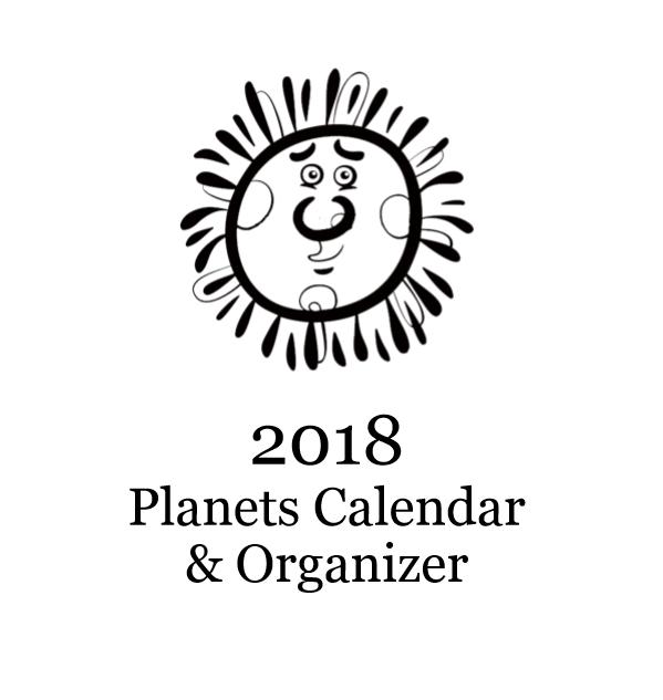 2018 Planets Calendar & Organizer - Book interior 1