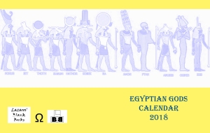 Egyptian Gods Calendar 2018 - full cover