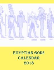 Egyptian Gods Calendar 2018 - Front cover
