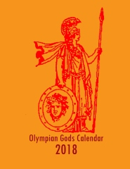 Olympian Gods Calendar 2018 - Front cover