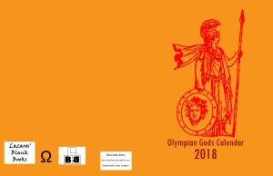 Olympian Gods Calendar 2018 - Full cover
