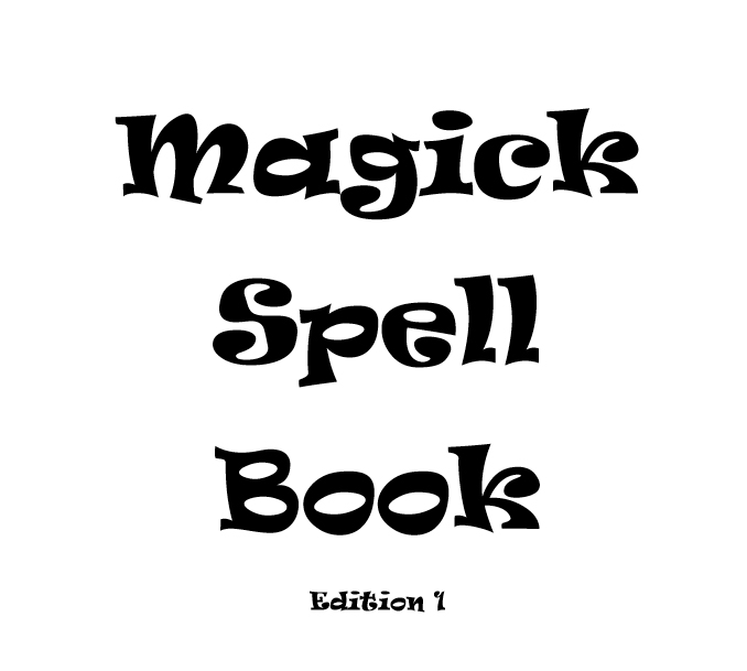 Magick spell book - Book interior 1