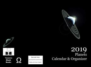 2019 Planets Calendar & Organizer - Full cover