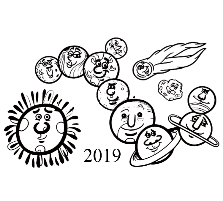 2019 Planets Calendar &Organizer