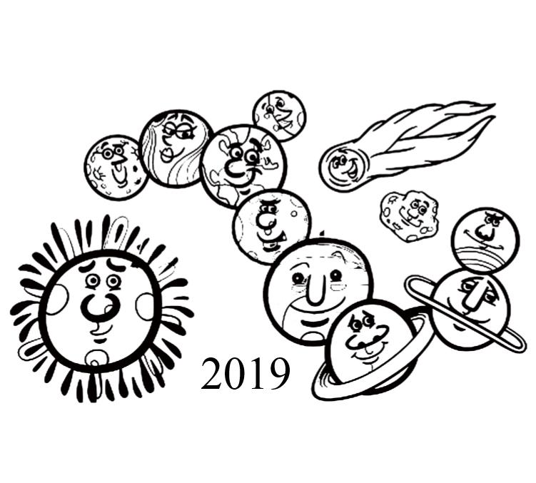 2019 Planets Calendar & Organizer - Book interior 3