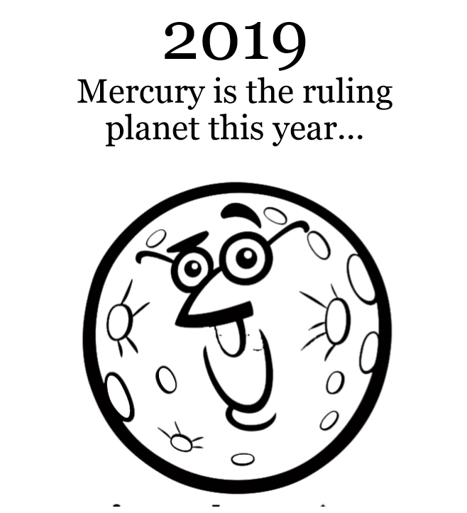 2019 Planets Calendar & Organizer - Book interior 4