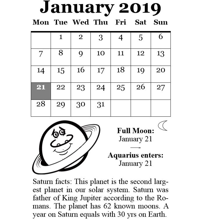 Blue Moon Calendar 2019 Janauary 2019 Full Moon Calendar Download   Free Printable