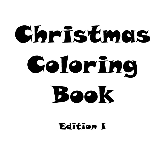 Christmas Coloring Book - Interior - 1