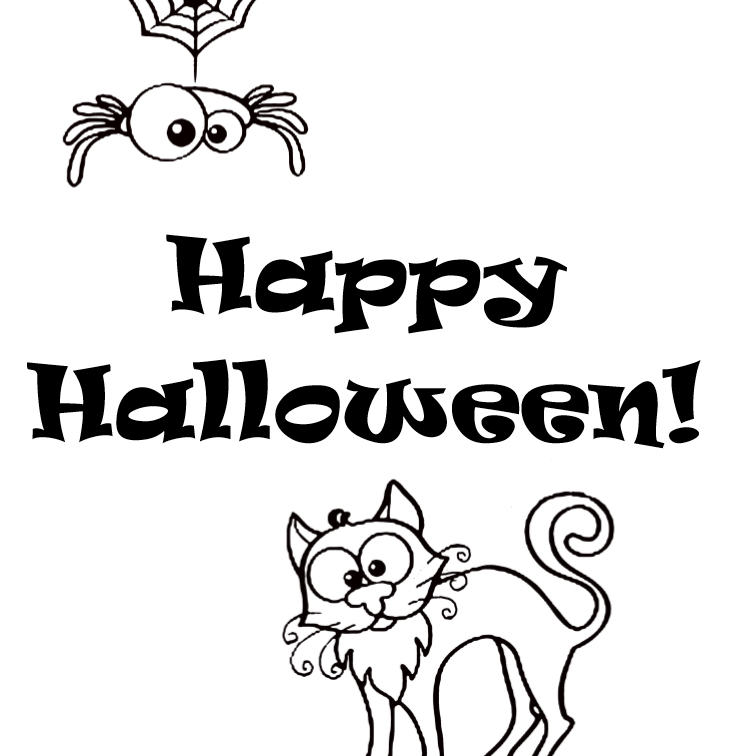 Happy Halloween coloring book - interior - 3