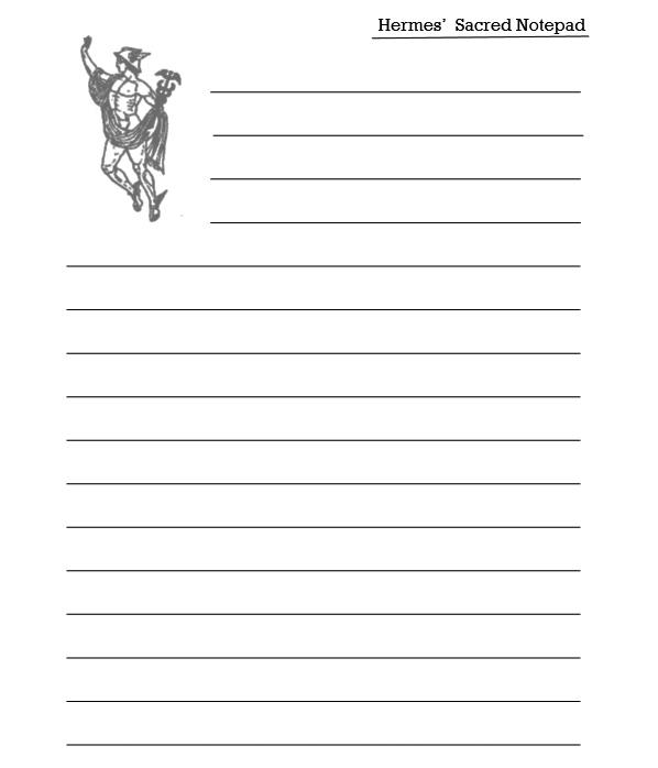 Hermes' Sacred Notepad - Interior - 4