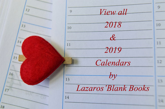 Lazaros' Blank Books - Calendars