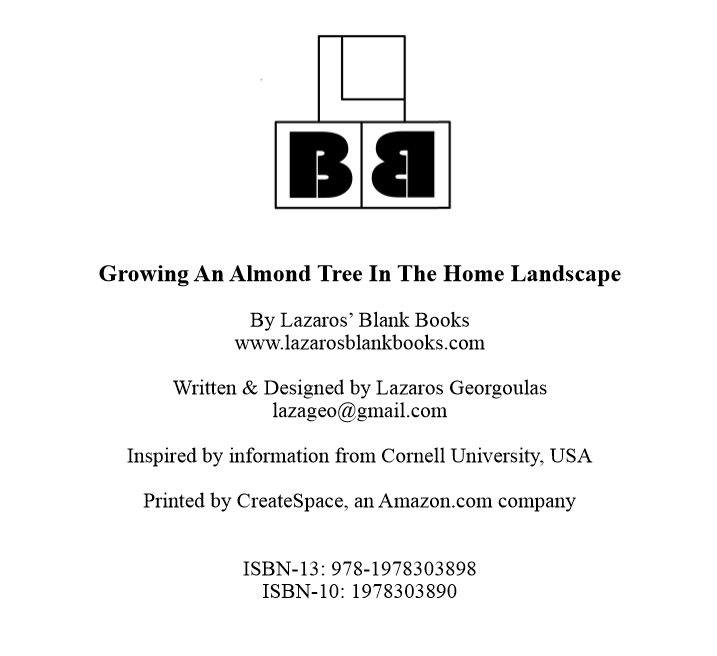 Growing an almond tree - Edition 1 - Book interior - By Lazaros' Blank Books