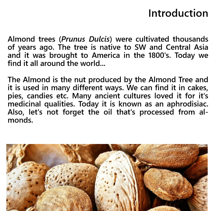 Growing an almond tree - Edition 1 - Book interior - 3