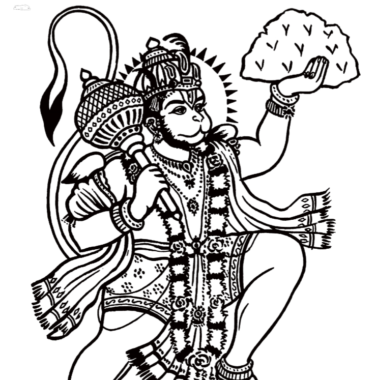 Hindu Gods Coloring Book - Book Interior - 6