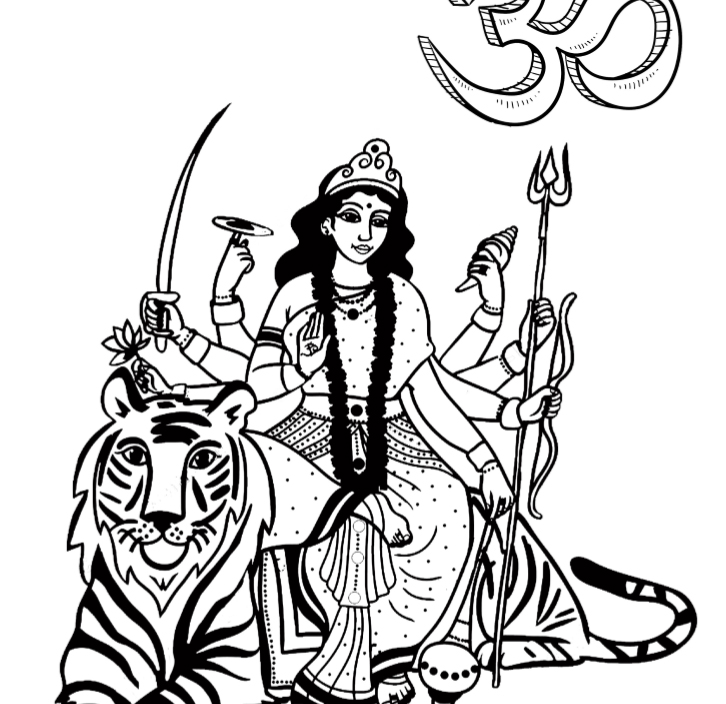 Hindu Gods Coloring Book - Book Interior - 7