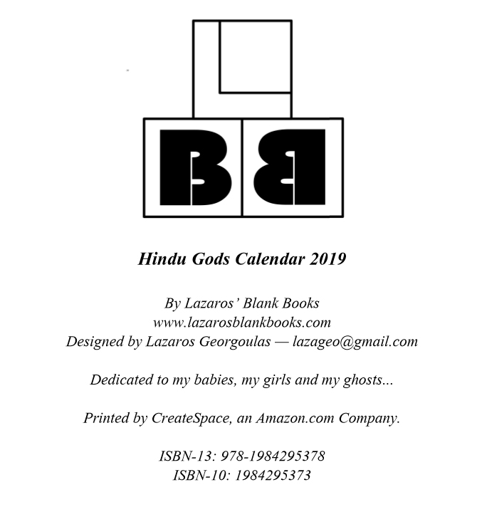Hindu Gods Calendar 2019 - Book Interior 02