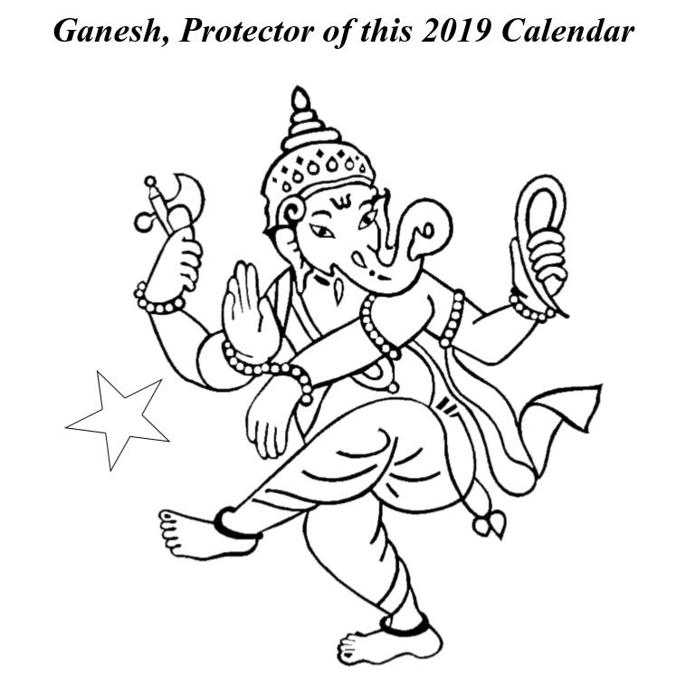 Hindu Gods Calendar 2019 - Book Interior 04