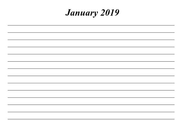 Hindu Gods Calendar 2019 - Book Interior 07