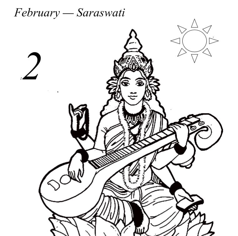Hindu Gods Calendar 2019 - Book Interior 09