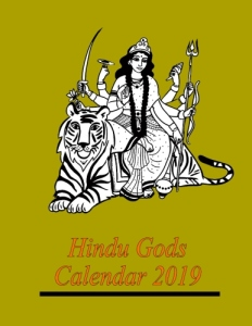 Hindu Gods Calendar 2019 - Front Cover