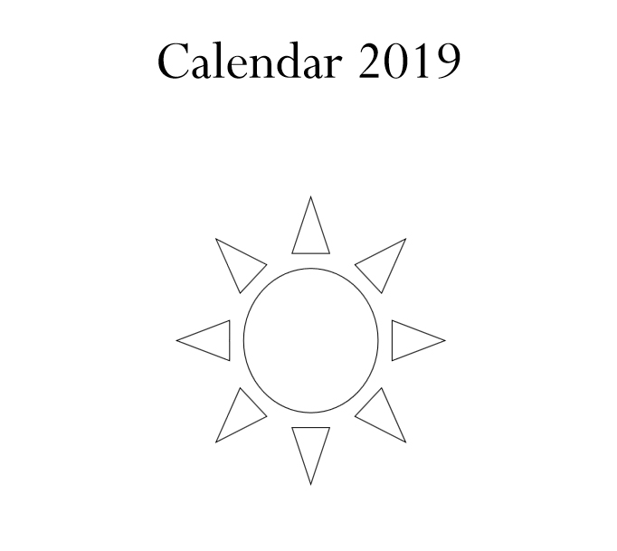 2019 Calendar & Daily Planner - Book Interior 3