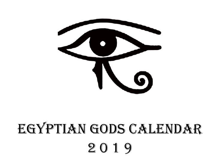 Egyptian Gods Calendar 2019 - Book interior 1