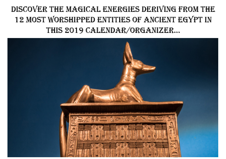 Egyptian Gods Calendar 2019 - Book interior 3
