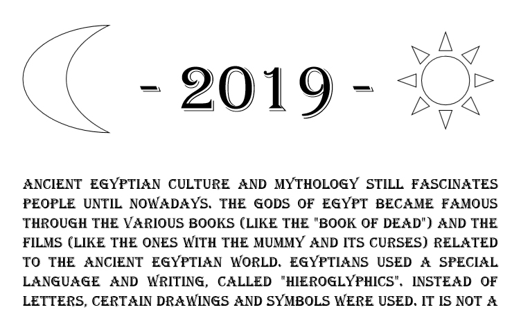 Egyptian Gods Calendar 2019 - Book interior 4