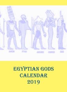 Egyptian Gods Calendar 2019 - Front cover