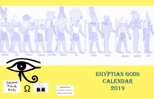 Egyptian Gods Calendar 2019 - Full cover