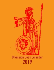 Olympian Gods Calendar 2019 - Front cover