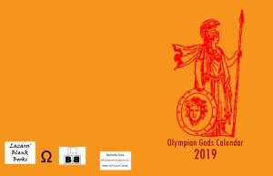 Olympian Gods Calendar 2019 - Full Cover