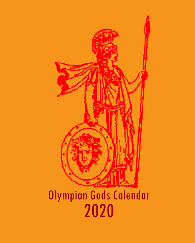 Olympian Gods Calendar 2020 Front Cover