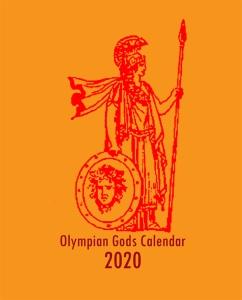 Olympian Gods Calendar 2020 Front Cover