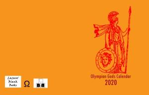 Olympian Gods Calendar 2020 Full Cover