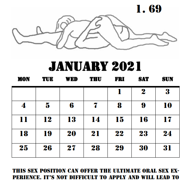 2021 Love Making Positions Calendar - 6