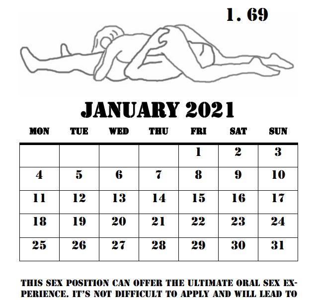 2021 Love Making Positions Calendar - 6