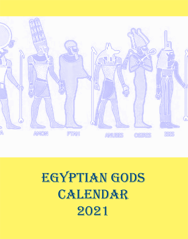 Egyptian Gods Calendar 2021 - Front Cover