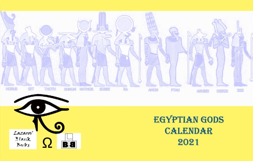 Egyptian Gods Calendar 2021 - Full Cover